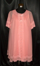 Nightgowns Robes Peignoirs Pink Girl Vintage Lingerie